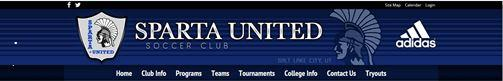 Sparta United Soccer Club banner